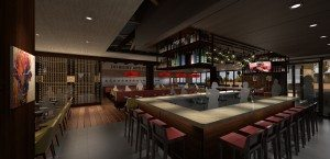 Rendering of the bar in Del Frisco's Grille